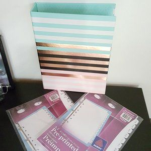 Small Personal Binder Organizer + 2 Sets Page Dividers [3p]